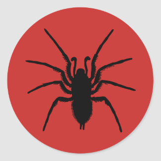 Creepy Halloween Party Red Black Spider Sticker