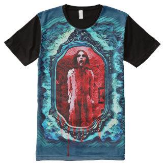 Creepy Haunted Bloody Mary Dark Horror Art All-Over Print T-Shirt