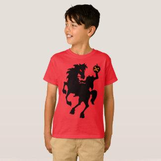 Creepy Haunted Headless Horseman Silhouette T-Shirt
