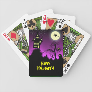 Creepy Haunted House Halloween Bicycle Poker Cards