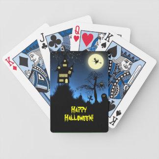 Creepy Haunted House Halloween Poker Deck