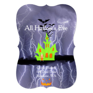 Creepy Hollow Halloween Haunted House Cards