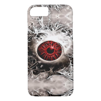 Creepy Horror Ghost Eye Fractal iPhone 7 Case