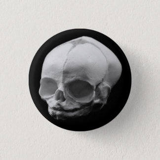 Creepy Infant Skull Goth button pin