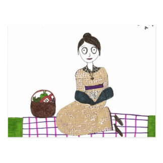 Creepy Jane Austen Picnic Postcard