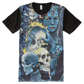 Creepy Kali Death Goddess Dark Horror Art All-Over Print T-Shirt