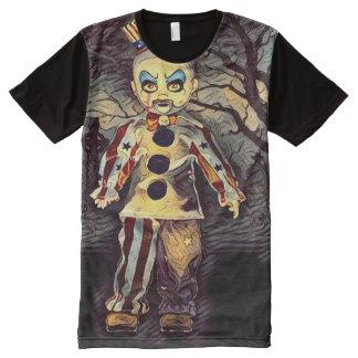 Creepy Killer Clown Dark Horror Art All-Over Print T-Shirt