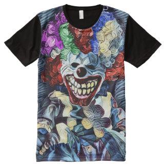 Creepy Killer Demon Clown Dark Horror Art All-Over Print T-Shirt
