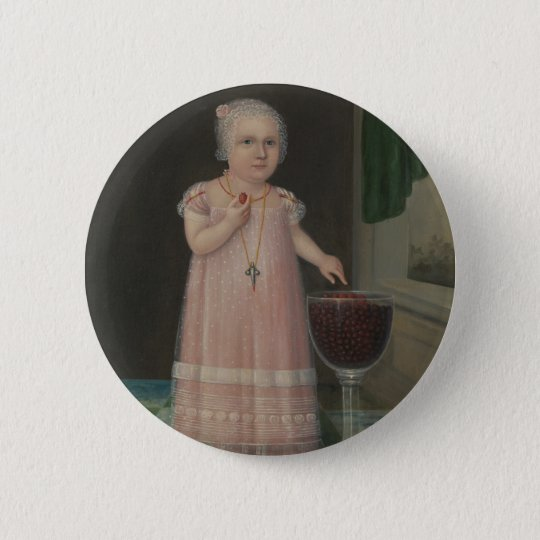 Creepy Little Girl Eats Candy 6 Cm Round Badge