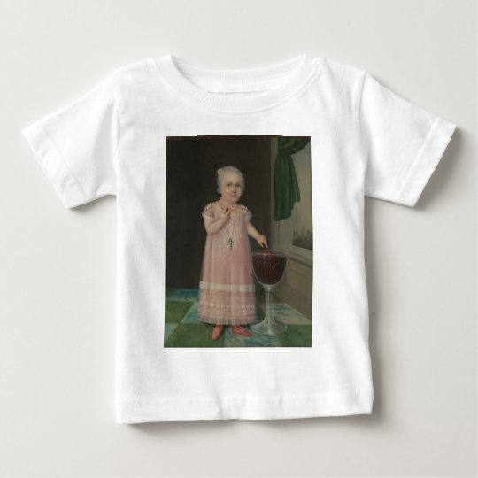 Creepy Little Girl Eats Candy Baby T-Shirt