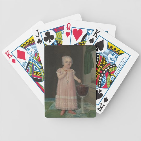 Creepy Little Girl Eats Candy Bicycle Playing Cards