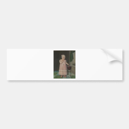 Creepy Little Girl Eats Candy Bumper Sticker