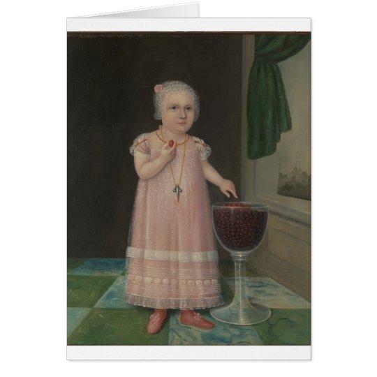 Creepy Little Girl Eats Candy Card