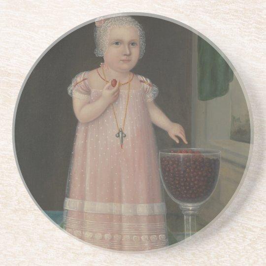 Creepy Little Girl Eats Candy Coaster