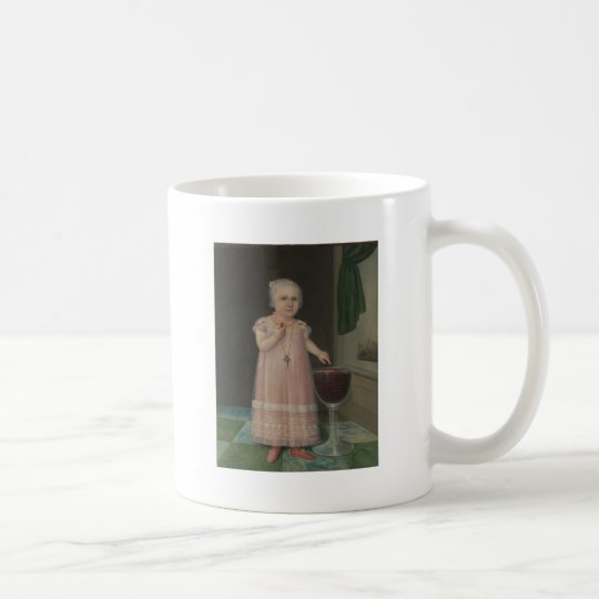 Creepy Little Girl Eats Candy Coffee Mug