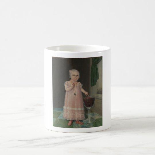 Creepy Little Girl Eats Candy Coffee Mug