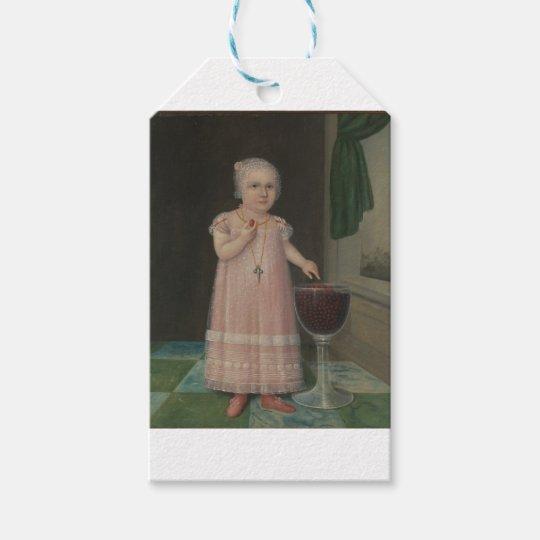 Creepy Little Girl Eats Candy Gift Tags