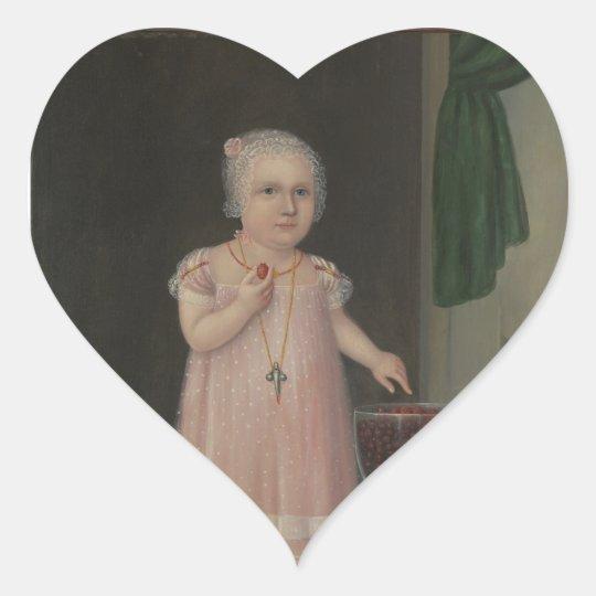 Creepy Little Girl Eats Candy Heart Sticker