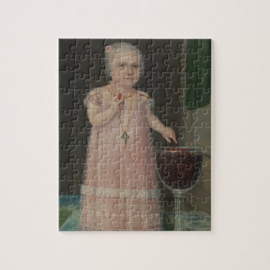 Creepy Little Girl Eats Candy Jigsaw Puzzle