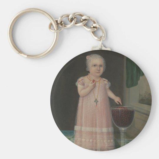 Creepy Little Girl Eats Candy Key Ring