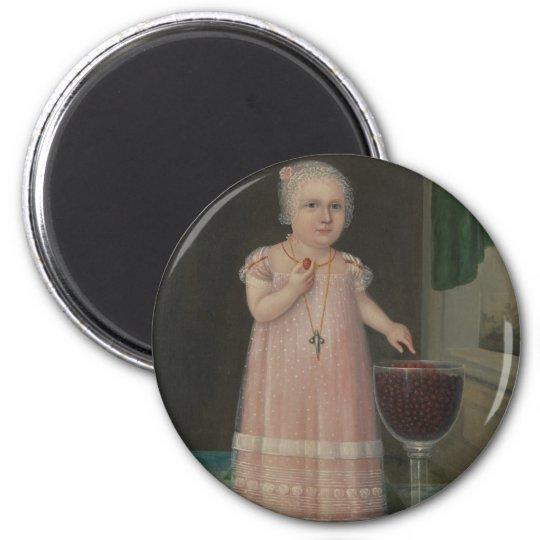 Creepy Little Girl Eats Candy Magnet