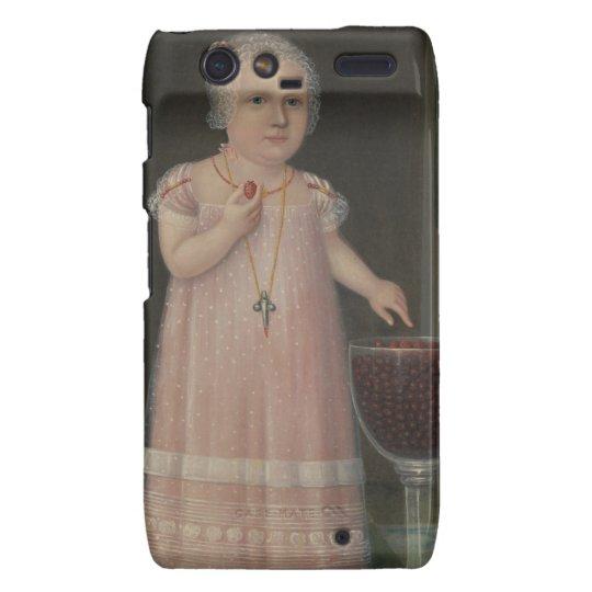 Creepy Little Girl Eats Candy Motorola Droid RAZR Case