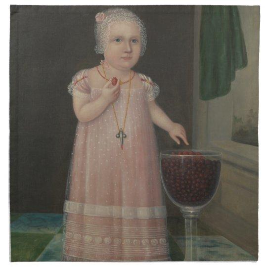 Creepy Little Girl Eats Candy Napkin