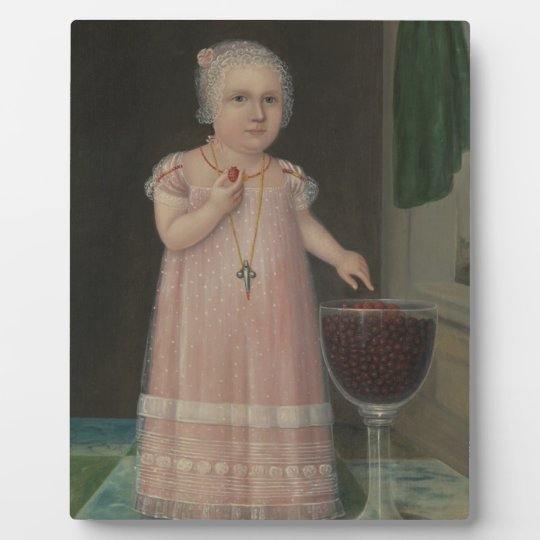 Creepy Little Girl Eats Candy Plaque
