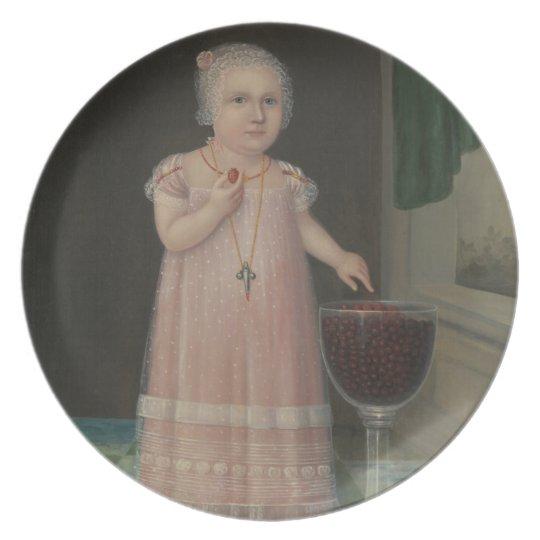 Creepy Little Girl Eats Candy Plate