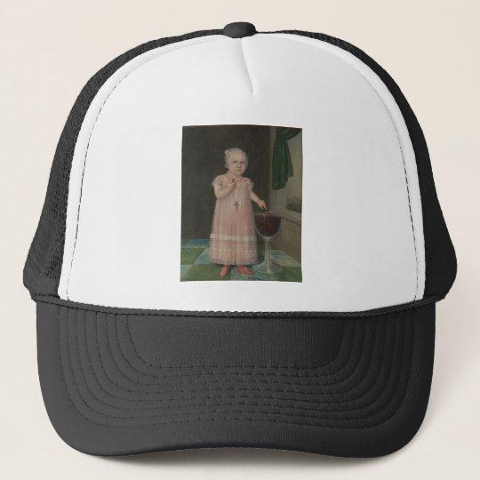 Creepy Little Girl Eats Candy Trucker Hat