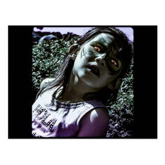 Creepy Little Girl Postcard