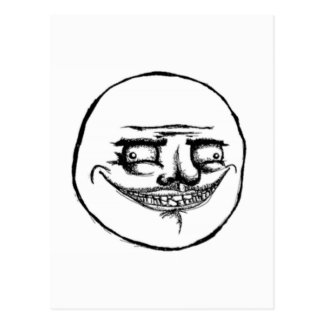 Creepy Me Gusta Face Post Cards