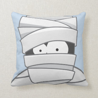 Creepy Mummy Halloween Throw Pillow