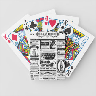 creepy newspaper bicycle playing cards