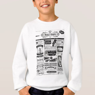 creepy newspaper sweatshirt