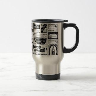 creepy newspaper travel mug