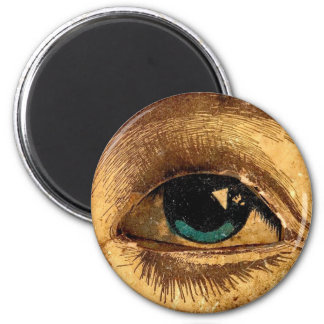 Creepy Odd Eye Ball Looking At You 6 Cm Round Magnet