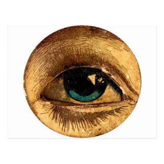 Creepy Odd Eye Ball Looking At You Postcard