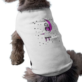Creepy over the moon and stars dog t shirt
