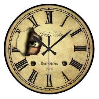Creepy Paris Hotel Personalized Wall Clocks