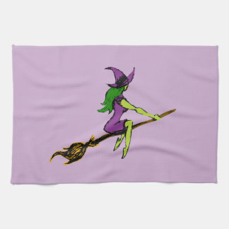 Creepy & Playful Witchy Witch Tea Towel