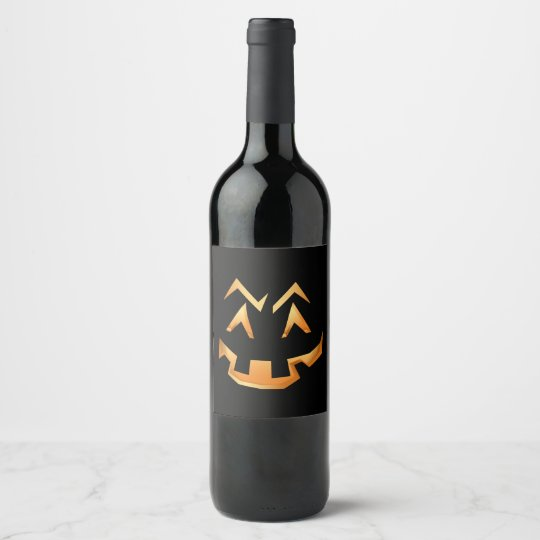 Creepy Pumpkin Face | You Customise Wine Label