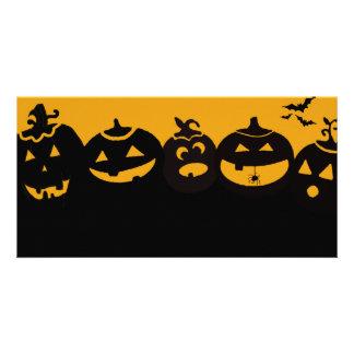 creepy pumpkins card