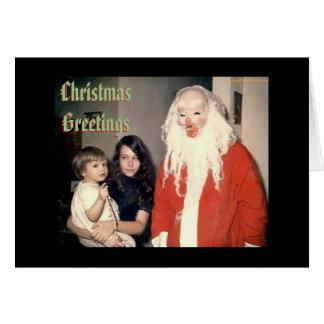 Creepy Santa Christmas Cards