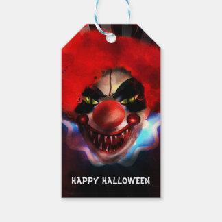 Creepy Scary Killer Clown Halloween Party Favor Gift Tags