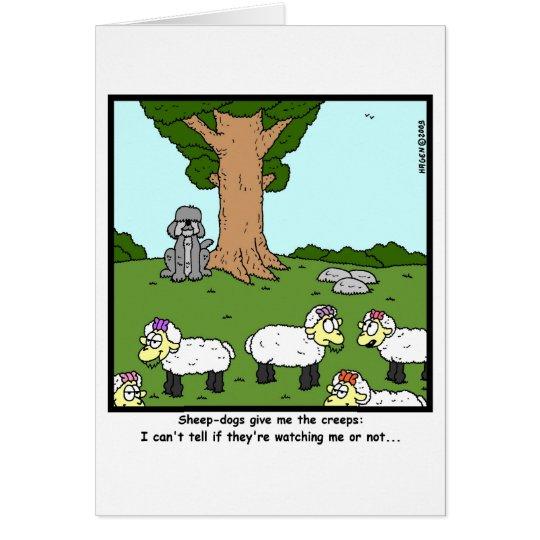 Creepy sheep-dog... card