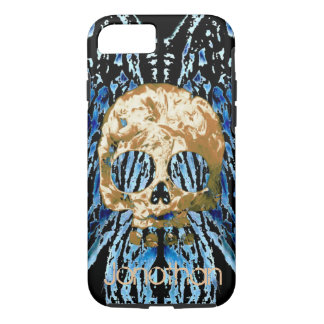 Creepy Skull Add Name Phone Case