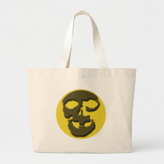 Creepy Skull Face and Full Moon Products Canvas Bags