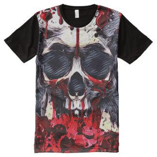 Creepy Skull Horror Theme Dark Art All-Over Print T-Shirt