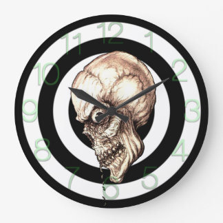 CREEPY SKULL LARGE CLOCK